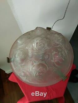 Verdun Molded Glass Table Lamp Foot Bronze Muller-schneider Period