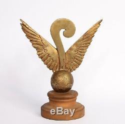 Very Rare Mascot Auto Bronze Art Deco Aviation