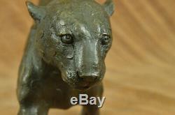 Walking Panther Rembrandt Bugatti Super Art Deco Bronze Sculpture Soldé