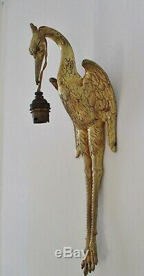Wall Mural Art Deco Bronze Bird Heron Golden Era 1930 Albert Cheuret