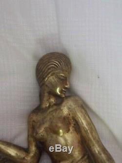 Woman Bronze Art Deco Old