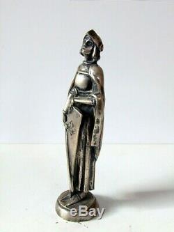 1915 Real del Sarte mascotte automobile car mascot hood ornament bronze art deco