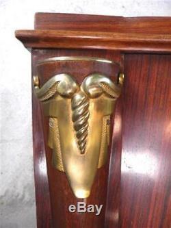 1930-40 J. Leleu Grand Buffet Enfilade En Palissandre Et Bronze Art Déco