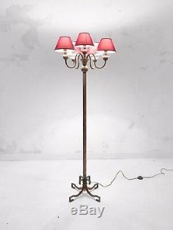 1930 PETITOT LAMPADAIRE ART-DECO MODERNISTE BAUHAUS CUBISTE Adnet