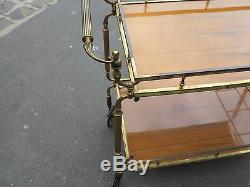 1950/70 Bar roulant en bronze doré décor N3