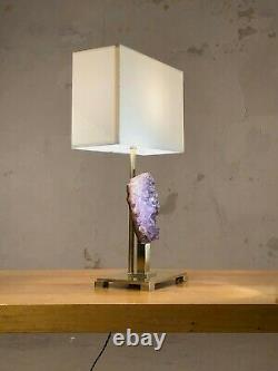 1970 WILLY DARO LAMPE ART-DECO SHABBY-CHIC MODERNISTE Maison Bagues Jansen