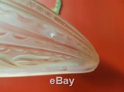 2 Appliques art deco en verre moule et bronze donna paris paire d applique