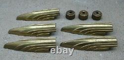 8 éléments en bronze doré d'un lustre Art Déco à 5 bras de lumières de Petitot