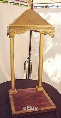 Ancien Baldaquin D'eglise/art Deco/bronze/chasse/reliquaire/tabernacle/ht 105 CM