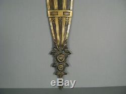 Ancien Grand Bronze Décoratif Style Art Déco Fleurs Stylisées Années 1930