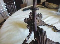Ancien lustre bronze