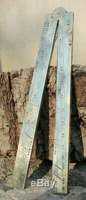 Ancien pied du roi roy en bronze (compas)