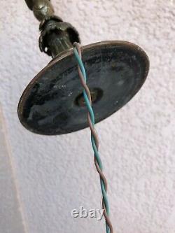 Ancienne Lampe ancienne lampe de bureau en bronze XIXe