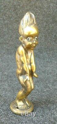 Ancienne Mascotte Automobile Bronze Pierre Le Faguays Tombe Des Nues art déco