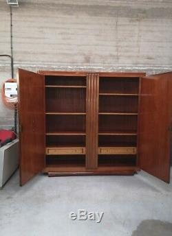 Armoire cabinet dressing palissandre art déco 1930 maurice rinck maxime old
