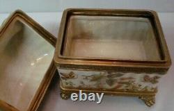 Boite Bijoux Papillon Style Art Deco Style Art Nouveau Porcelaine Bronze