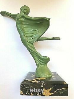 Bronze De Max Le Verrier Envol Mascotte Art Déco