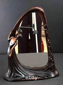 Bronze Miroir Art Déco Nouveau Sculpture