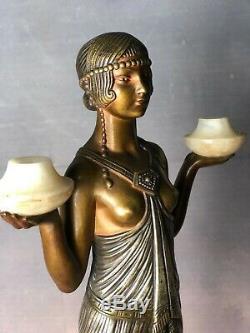 Bronze femme Art déco par Joseph Emmanuel Cormier dit Joé DESCOMPS(1889-1950)