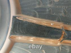 Chandelier Lustre vasque Art Deco muller freres luneville, no schneider degué