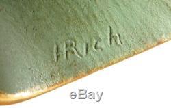 Coupe-papier + cendrier Bronze signé RISCHMANN vers 1930 Grenouille Fog Art Deco
