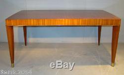 Decoene Freres, Table Epoque Art Deco en acajou pommelé. Et bronze