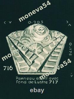 Degué Suspension Art Déco En Bronze Nickelé Et Plaques En Verre Pressé 1930