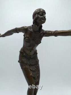 Demeter Chiparus Danseuse Phénicienne Bronze de Style Art Déco Barbedienne