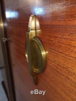 Exceptionnelle armoire cabinet dressing palissandre des indes art déco 1940