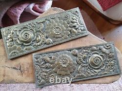 Exceptionnelle plaque d'ornement décoration bronze art déco (2)