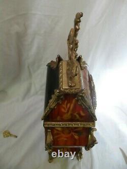 - Franz Hermle Pendule Bronze Bois De Rose Bel Etat Fonctionne Parfaitement