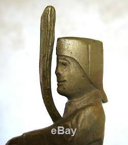 GUIGNOL, bouchon de radiateur en bronze, mascotte, GRANGER, ART DECO