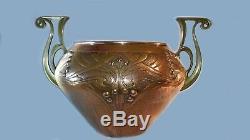 Important Et Rare Vase Cache Pot Art Nouveau R Yuge Jugendstil Period Wmf