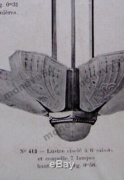 J. Gauthier Paire Dappliques Art Déco En Bronze Nickelé Et Verre Pressé 1930