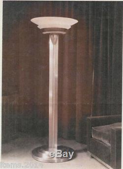 Jean Perzel, rare Lampadaire, époque art deco Modele 32, En Bronze Nickele