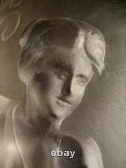 L. B. & Val Saint-lambert Applique Art Déco En Bronze Nickelé Et Plaque 1930