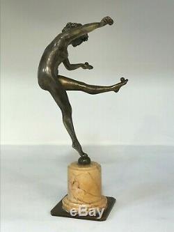 La jongleuse' dite Danseuse aux boules, Claire COLINET Bronze argenté Art Déco