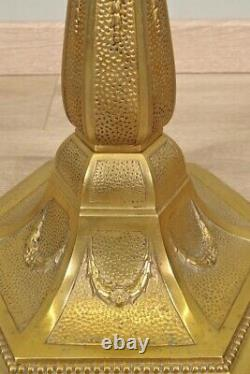 Lampadaire 1930 bronze doré Art-Déco