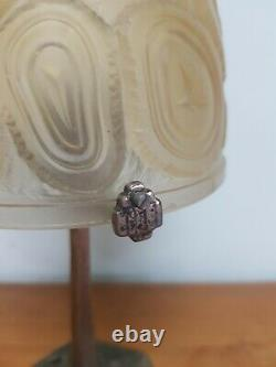 Lampe Art Deco en bronze et verre moulé marron gilles degue muller