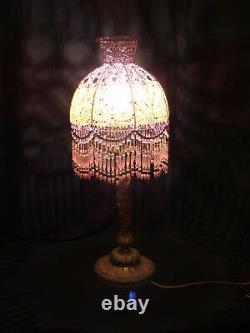 Lampe Art Nouveau début Art Déco en bronze dépoque