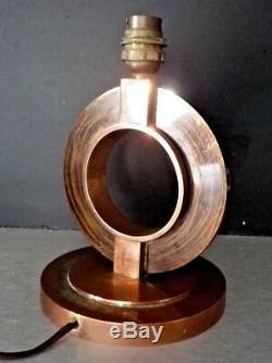 Lampe Art déco moderniste Adnet, Djo Bourgeois, Frank, Desny Bronze cuivré, patiné