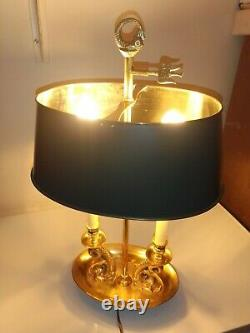 Lampe Bouillotte Dauphin Bronze Doré