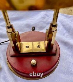 Lampe de BUREAU ART DECO MODERNISTE BAUHAUS métal doré et BRONZE ou laiton doré