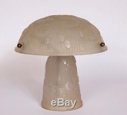 Lampe ou lustre art deco verre presse moule 1930 monture bronze