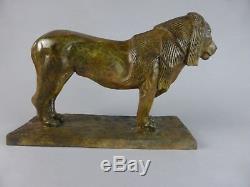 Magnifique Roi Lion Style Art Deco Bugatti En Bronze D'art Belle Patine Ad