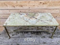Maison Bagues Table Basse Bronze Bambou Charles 1950 Onyx Design Art Deco