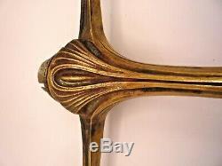 Maurice DUFRENE lampe art nouveau en bronze, follot, leleu, art deco, daum