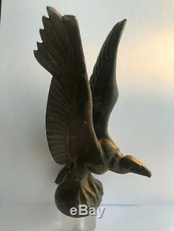 Max Le Verrier Un Aigle En Bronze Argenté Art Déco Mascotte De Voiture
