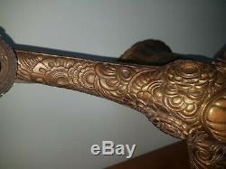 Monture De Lustre Art Deco en bronze muller degué schneider