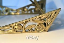 Monture de petit lustre ou suspension en bronze Art Déco dlg Sue et Mar